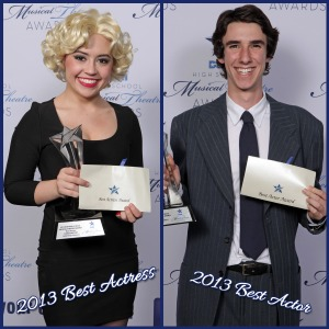 2013 DSM High School Musical Theatre Awards Best Actor and Actress, Cameron Wenrich and Dakota Ratliff