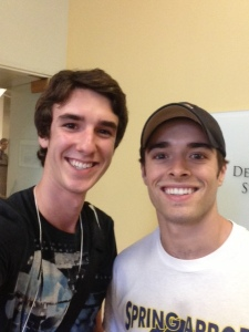 Cameron and Corey Cott, currently starring in Newsies on Broadway!