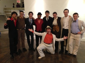 From Cameron: My fellow medley members (excluding Rynne who was in the bathroom) in costume!