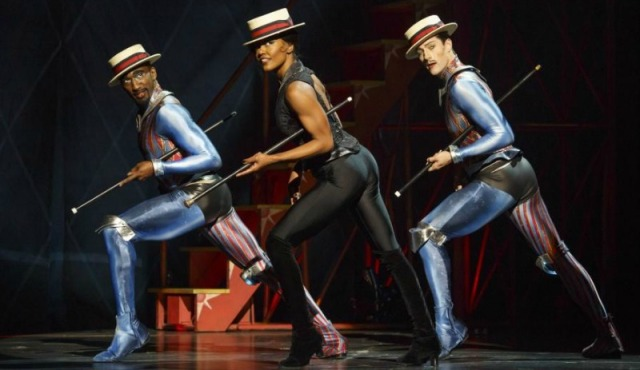 "Anthony Wayne, Patina Miller and Andrew Fitch perform Bob Fosse's iconic ""The Manson Trio"" in the 2013 Broadway revival of ""Pippin."" Photo by Joan Marcus."