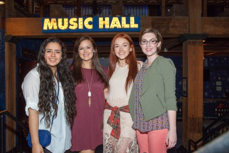 Maya, Faith, Olivia, and Amelia at DSM's Do Something More Event